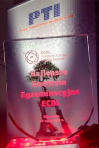 Najlepsze Centrum Egzaminacyjne ECDL - Nagroda