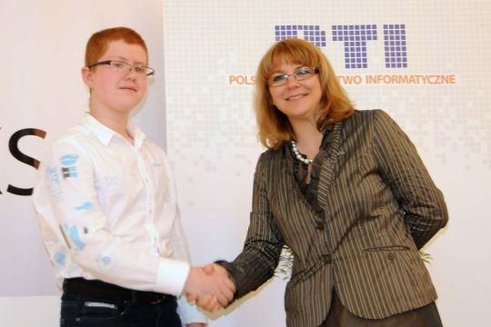 Finał TIK-T@Ka 2012 - Bartek Waclawik orazBeata Chodacka. Fot.B.Lisowski